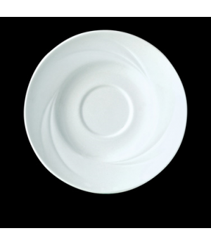 "Saucer, 4-5/8"" dia., round, Distinction, Alvo, Alvo White (USA stock item) (mini"