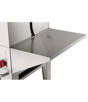 Removable end shelf, stainless steel