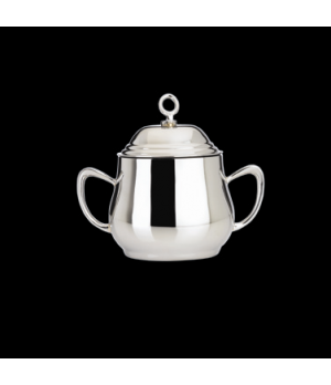 Sugar Bowl, with cover, 9 oz., with handles & lid, 18/10 stainless steel, WNK, E