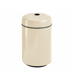 "Can Recycling Receptacle, 20 gallon, 18"" diameter, 29"" high, fiberglass, retaine"