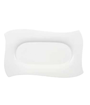 "Platter, 18"" x 10-5/8"", rectangular, premium bone porcelain, New Wave Premium (S"