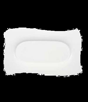 """Platter, 18"""" x 10-5/8"""", rectangular, premium bone porcelain, New Wave Premium (S"""