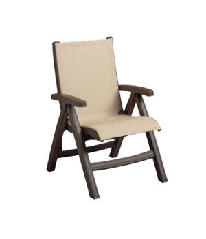 Belize Midback Folding Chair, stackable, designed for outdoor use, sling, bronze