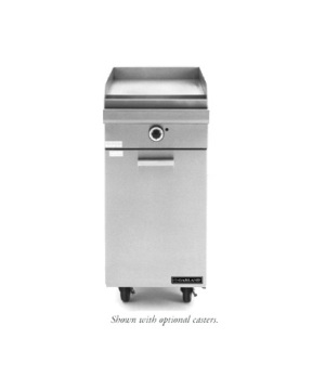 "Master Series Heavy Duty Range, gas, 17"", Add-A-Unit, fry top with manual contro"