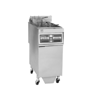 "Fryer, Electric, 15-1/2""W, free-standing, stainless steel cabinet and 14-1/8""x15"