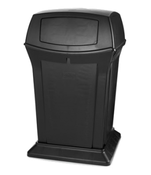 "Ranger® Container, 45 gallon, dome top, 24-7/8"" square, 41-1/2""H, 2 access openi"
