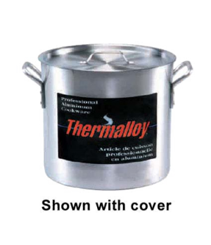 "Thermalloy® Stock Pot, 24 qt., 12-1/2"" x 11-1/2"", without cover, oversized rive"