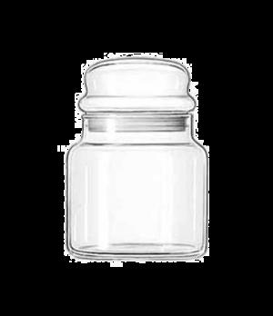 """Storage Jar #16, 22 oz., 5-1/2"""" high, glass, (H 5-1/2""""; T 3-1/8""""; B 4""""; D 4"""")"""