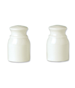 Salt Shaker, vitrified china, Performance, Ivory, Naturals Honey (UK stock item)