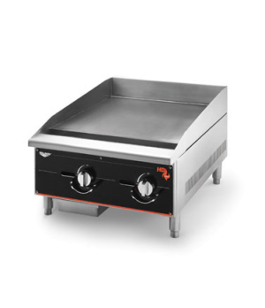"Cayenne® Heavy-Duty Griddle, 24"", 60,000 BTU, Manual Control, stainless 2 burner"