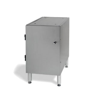 FS1 Floor Stand, for single E & F units, enclosed cabinet base with hinged door,
