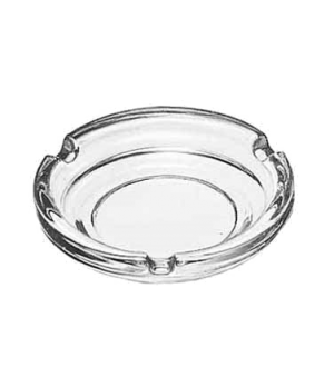 "Ash Tray, 4-1/4"" diameter, clear glass"