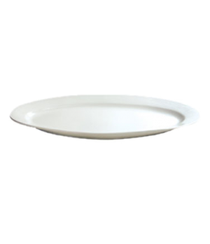"Platter, 22"" (56 cm), oval, wide rim, oversized, Le Buffet, white"