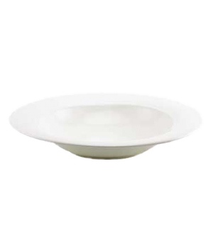 "(4706) Fusion Pasta/Salad Bowl, 11-1/8"" dia. (28.1 cm), rimmed, bone china, micr"