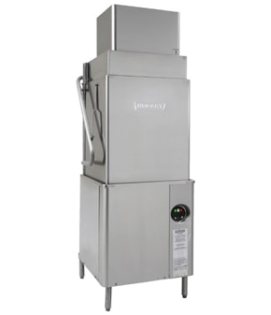 Ventless door type dishwasher, Energy recovery, Tall chamber, Hot water sanitize