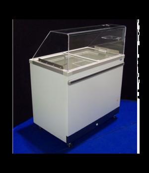 Ice Cream Cabinet, (8) tub or (4) basket capacity, 11.48 cu. ft., sliding glass