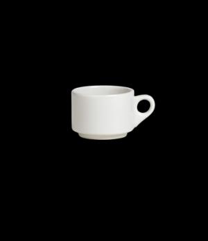 "Cup, 6-1/2 oz., 4-1/2""W x 2-1/2""H, stacking, Anfora, American Basics (USA stock"