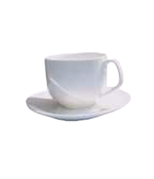 Elegant Tea Cup, 8-1/2 oz. (240ml), scratch resistant, oven & microwave safe, di