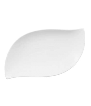 "Pickle Dish/ Plate, 11-3/4"" x 6-1/4"", oval, premium bone porcelain, New Wave Pre"