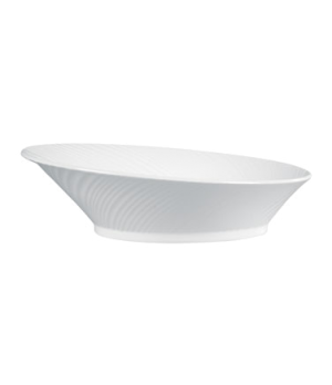 Ethereal Serving Bowl, dishwasher safe, bone china, white