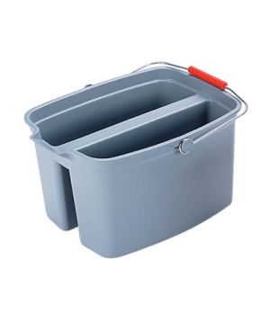"Double Pail, 18""W x 14-1/2""DW x 10""H, 19 quart capacity, gray"