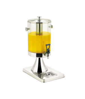 "Beverage Dispenser, 7 qt. (6.6 L), 14-4/5""L x 11-5/8""W x 21-3/8""H, 12-sided cont"