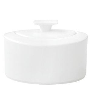 Sugar Bowl, 11 oz., with cover, premium bone porcelain, Modern Grace