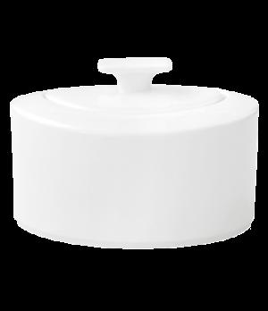 Sugar Bowl, 11 oz., with cover, premium bone porcelain, Modern Grace