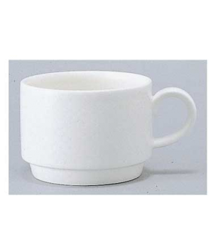 Cup #8, 3-1/2 oz., stackable, premium porcelain, Easy White