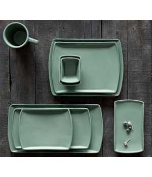 "Entrée Platter, 9-3/4"" x 7"", rectangular, Anfora, Sedona Teal (minimum = case qu"