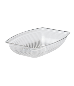"Camwear® Bowl, ribbed, rectangular, 14-1/4"" x 19-3/8"", 12 qt. capacity, polycarb"