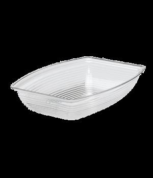 "Camwear® Bowl, ribbed, rectangular, 14-1/4"" x 19-3/8"", 12 qt. capacity, polycarb"