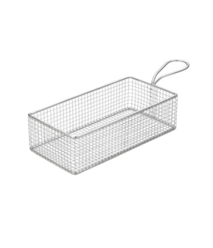 "Service Basket, 10.25L x 5""W (26 x 13 cm), with handle, rectangular, wire grid,"
