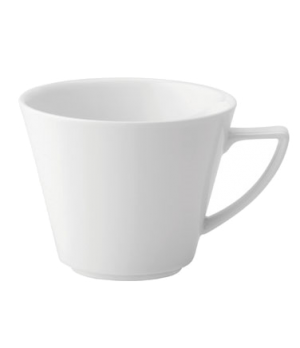 Cup, 7-1/2 oz. (222ml), V shaped handle, porcelain, microwave and dishwasher saf