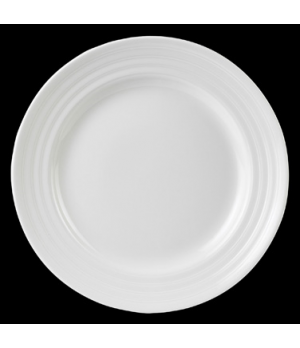"Plate, round, 10"" dia., Performance, Arondo, white (minimum = case quantity)"