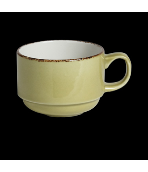 Slimline Cup, 7 oz., stackable, vitrified china, Performance, Terramesa, olive (
