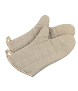 "Grill/Oven Mitt, 13""L, heat resistant up to 400° F (204° C), water & stain rep"
