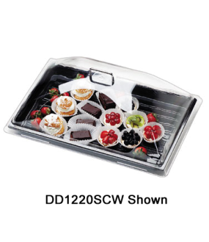 """Camwear® Display Dome Cover, 18"""" x 26"""", polycarbonate, chrome handles are attach"""