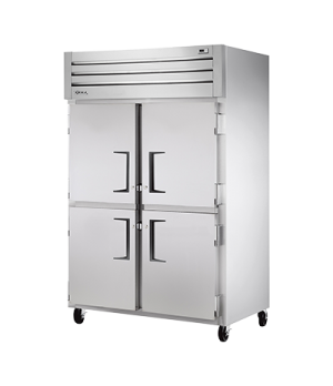 Freezer, Reach-in, -10°F, two-section, stainless steel front, aluminum sides, (4