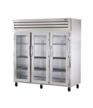 SPEC SERIES® Refrigerator, Reach-in, three-section, stainless steel front & side