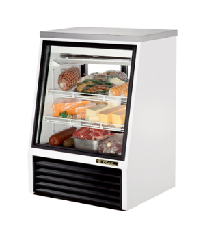 Single Duty Deli Case, see-thru, stainless steel top, Low-E glass front & (2) re