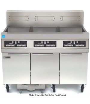 High Efficiency Open Full Pot Gas Fryer Battery, (3) 50 lb capacity, built-in fi