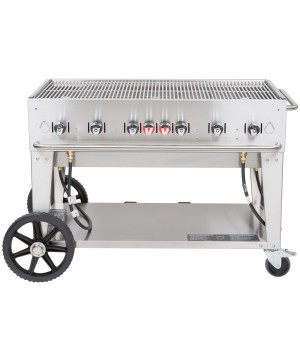"Outdoor Charbroiler, LP gas, 46"" x21"" grill area, 6 burners, 304 stainless steel"