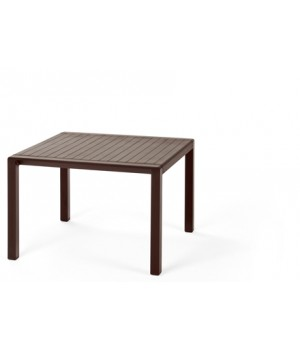 "Aria 60 - 24"" Square Low Table - Caffe"