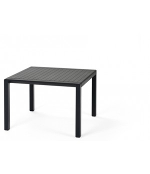 "Aria 60 - 24"" Square Low Table - Anthracite"