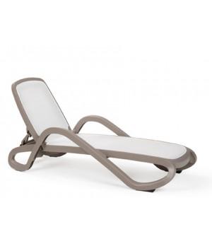 Alfa Chaise Lounge - Tortora / Bianco
