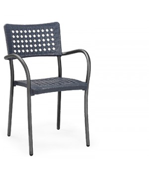 Artica Wicker Armchair - Anthracite