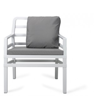 Aria Armchair with Cushions - Anthracite