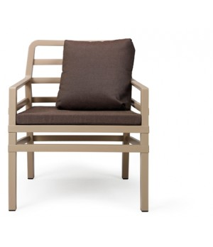 Aria Armchair with Cushions - Caffe