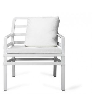 Aria Armchair with Cushions - Bianco